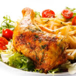 Roast Chicken With Onions And Parsley