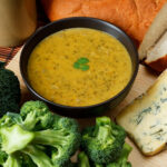 Soup maker broccoli and stilton soup