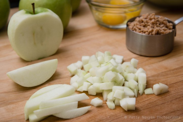 Apples are one of my favorite things to chop. I like the clean, crisp texture.